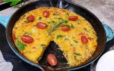 Chickpea and red pepper Frittata