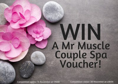 Mr Muscle Couple Spa Voucher competition!