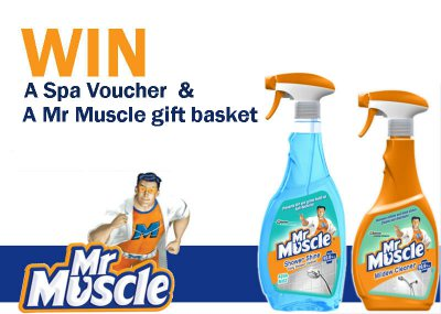 Mr Muscle gift basket and spa voucher competition