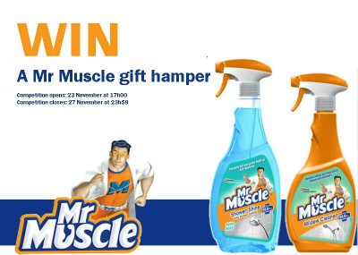 Stand a chance to win a Mr Muscle hamper!
