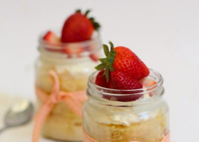 Tres Leches Cake Jars