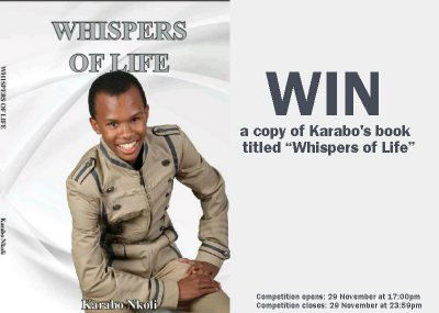 """Whispers Of Life"" book competition!"