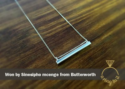 Win a Silver Bar Pendant by Stacy Beukes