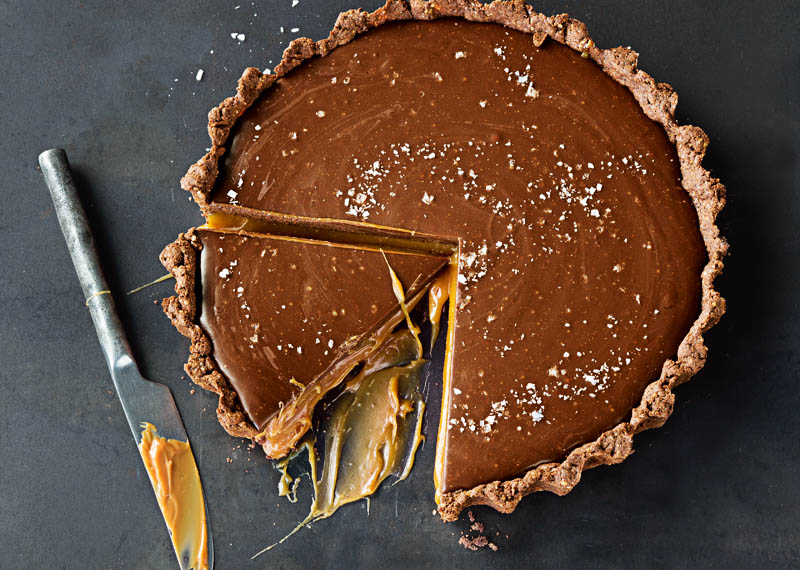 Chocolate Caramel-Almond Tart Recipe — Dishmaps